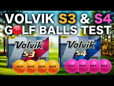 NEW VOLVIK S3 & S4 GOLF BALLS TESTED
