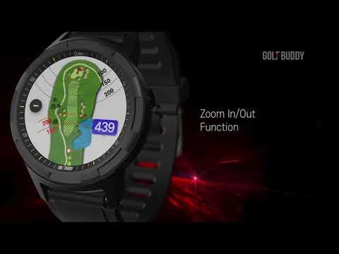 GOLFBUDDY aim W10 Advanced Smartwatch GPS Rangefinder