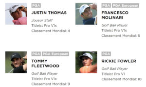 Golfeurs Pros utilisant Titleist Pro V1 et Pro V1x