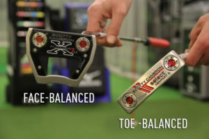 Putter Face-Balanced et Putter Toe-Balanced