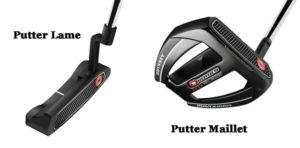 Putters Odyssey Golf Lame et Maillet
