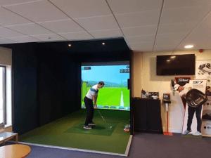 Installation d'un simulateur au golf de Lille