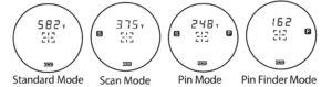4 Modes de Mesure GolfBuddy LR7
